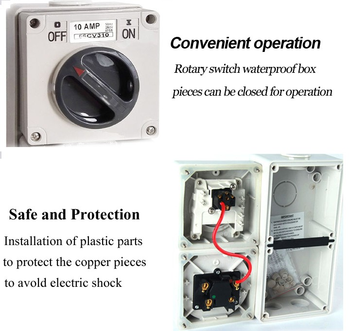 Outdoor Waterproof Ip66 20a 250vac Industrial Electrical