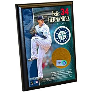 Felix Hernandez Seattle Mariners 4x6 Plaque Safeco Field Dirt