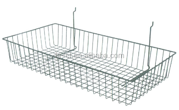 Metal Wire And Mesh Hanging Utensil Storage Basket By