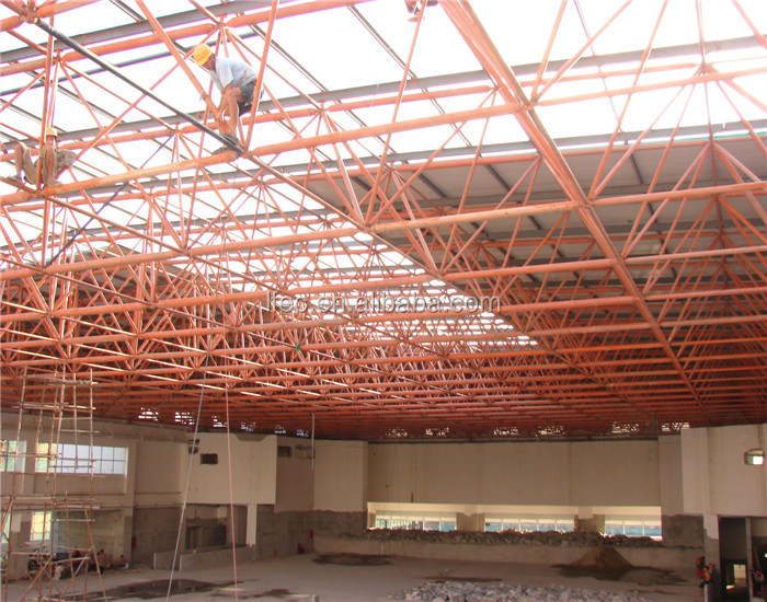 Large Span Space Frame Prefabricated Steel Structure Warehouse