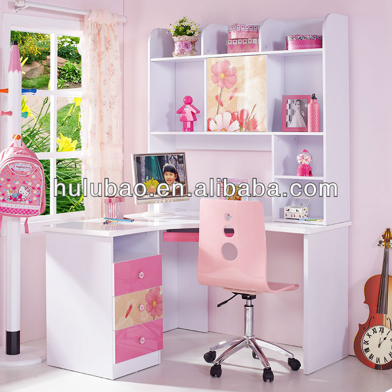 Lovely pink mdf muebles ni os escritorio de la computadora for Muebles de princesas