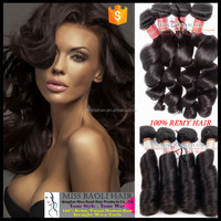 2016 Best Selling Double Wefted 100% Remy Human Hair easy hair styles medium wavy hair