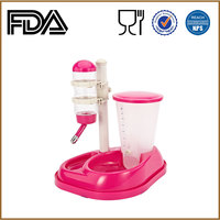 SGS supplier Plastic pet products Water Fountain Dog drinker feeder Automatic pet feeder