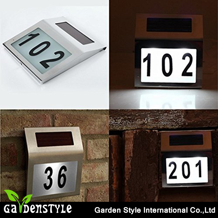 led light home, house address number light for home, solar power led lights for home