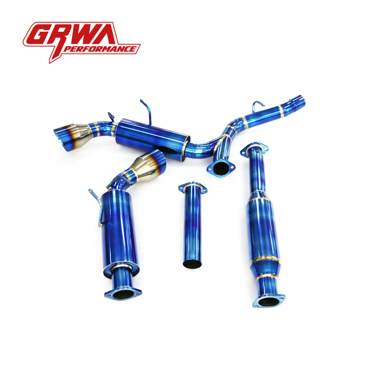 Best quality GRWA New Style Carbon Fiber Dual Exhaust Tip