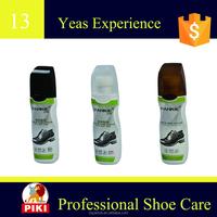 2016 good sale exported quick shine black brown netrual Liquid Shoe Polish PA-350 piki good quality cheap