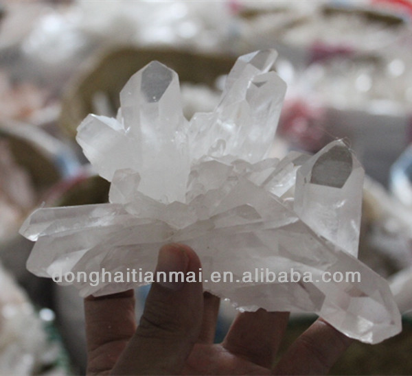 Wholesale Beautiful Natural Crystal Specimen Cluster / Raw Decorative Clear Quartz Cluster