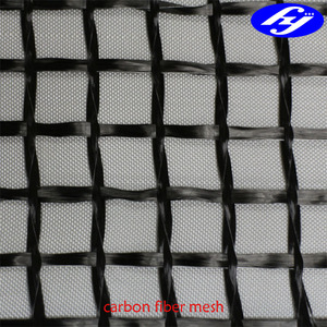 carbon fiber mesh for structure reinforcement