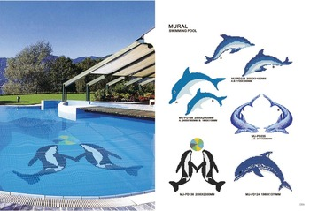 Swimming pool wall mosaic tiles stickers alibaba in spain for Pool design aufkleber