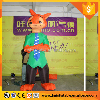 2016 Cheap inflatable fox for outdoor advertising / promotion C-316