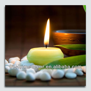 Candle Light Up Canvas Prints,Zen Style Wall Picture,Led Home Goods ...