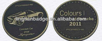 2016 top selling high quality custom designed text engraved brass token coin