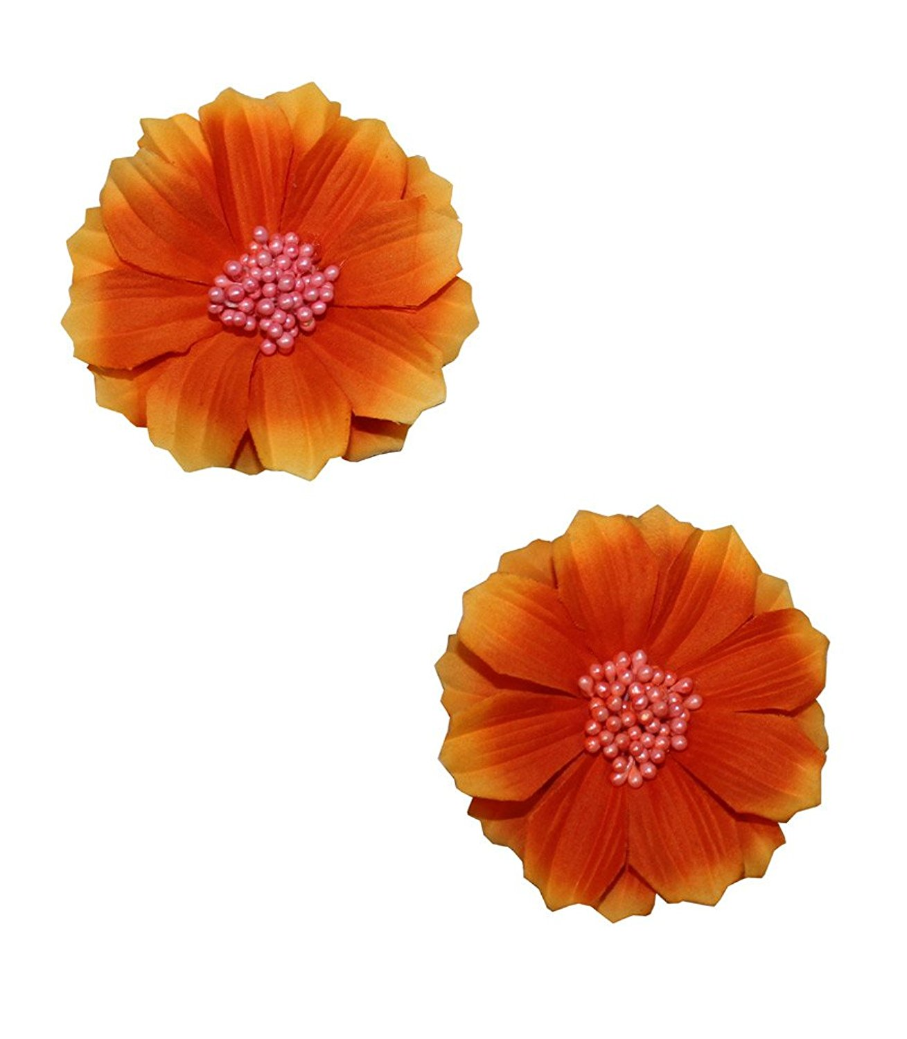 Cheap tropical flower hair clips find tropical flower hair clips get quotations wd2u girls set of 2 tropical silk flower hair bows alligator clips usa mightylinksfo