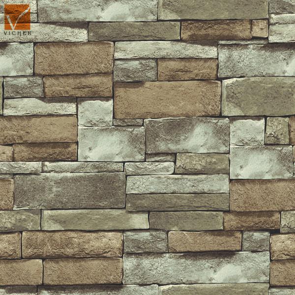 3d Popular Natural Stone Wallpaperbrick Design Vinyl