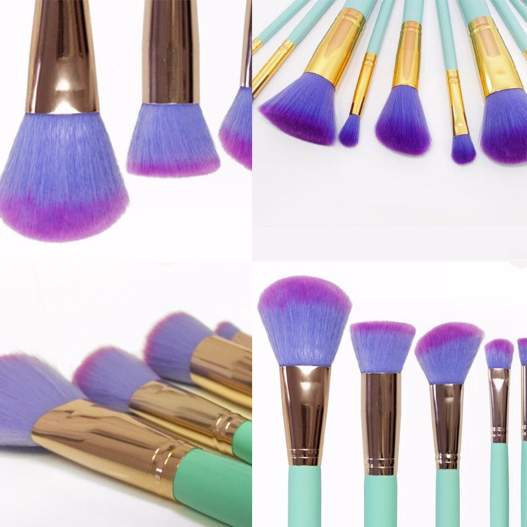 unicorn brush set. new innovation unicorn brush set 2017 best price of makeup kit 10pcs rainbow brushes