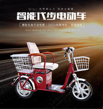 24' adults electric tricycle for cargos / Three wheels electric bike with En15194 / three wheel electric motor bike