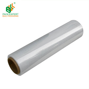 Wrapping goods manual stretch film roll clear 2 inch stretch film roll