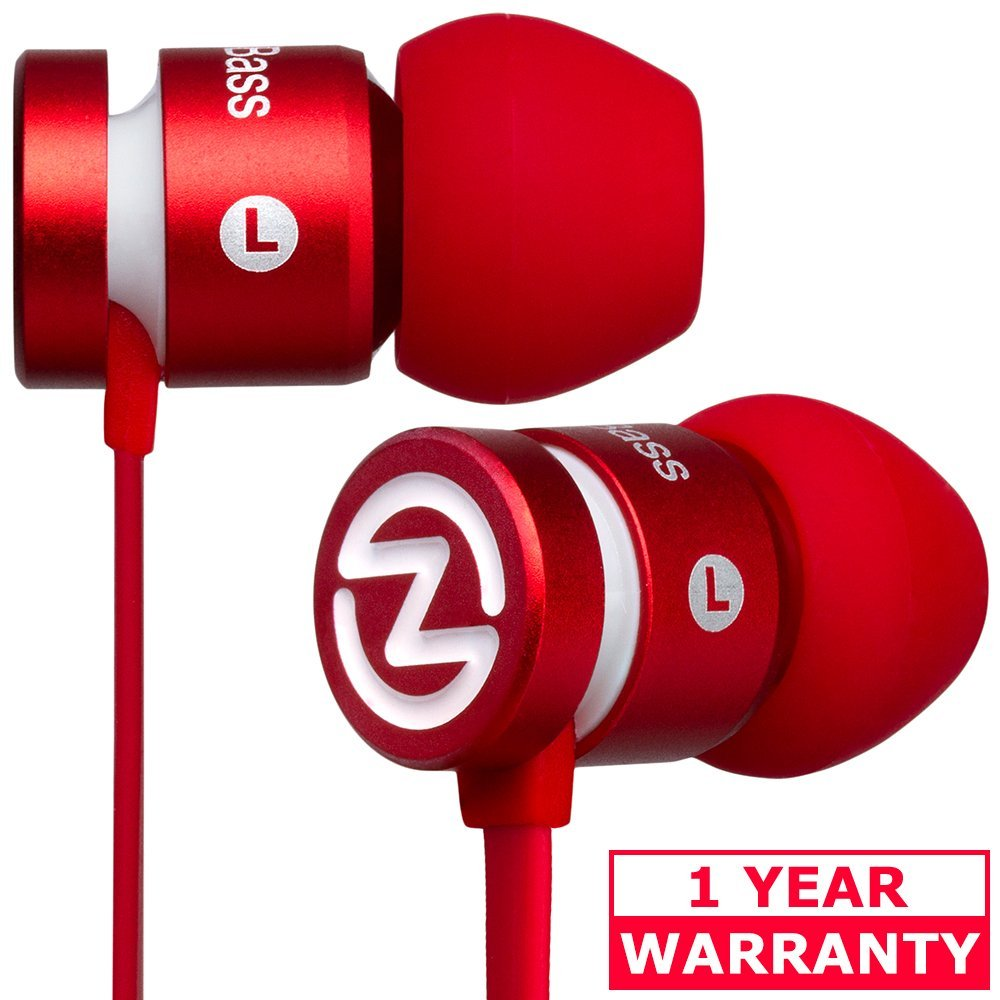 6df848b3eb8 Get Quotations · Tangle Free Earbuds, with Mic, ZEUS BASS Boosted, Best  Earphones with Microphone and