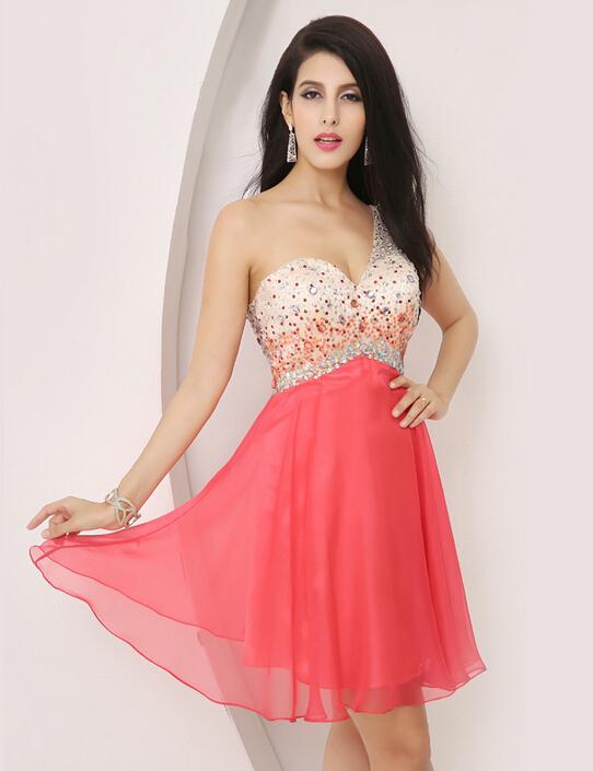 Vestidos Color Coral Cortos Para Promocion Imagui