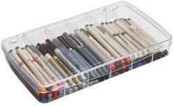 "Bulk Buy: Art Bin Prism Box 6 Compartments 11.5""x6.625""x1.75"" Translucent 1106AB (2-Pack)"
