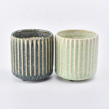 colorful glazing ceramic candle jar wholesale