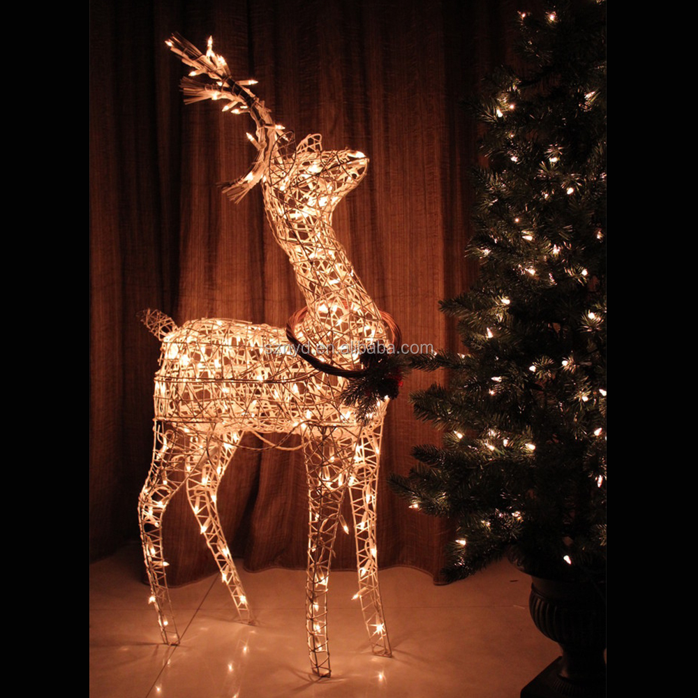 Hot Sale Lighted Outdoor Wire Christmas Deer For Christmas Decoration