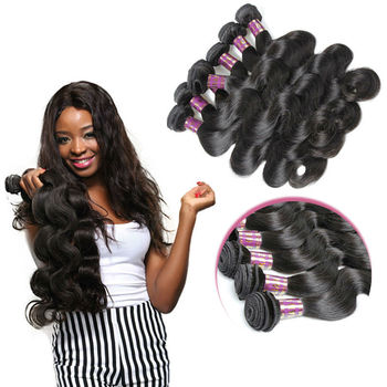 XBL Brazilian Body Wave Human Hair Extensions, Raw Unprocessed Virgin Hair
