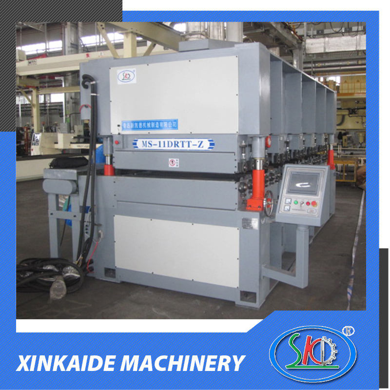 Sheet metal surface deburring finishing polishing grinding machine