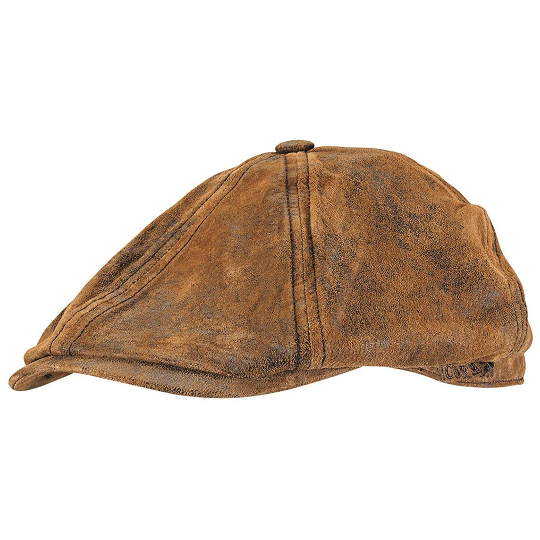 32853c3b1a Buy Stetson Lanesboro Distressed Leather Newsboy Cap in Cheap Price ...