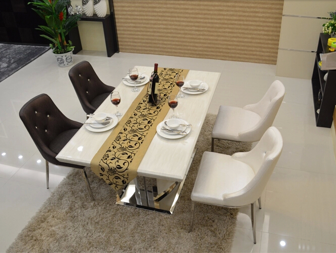 Stainless steel Coffee chair upholstered dining chair elastic and comfortable leisure Hall chair