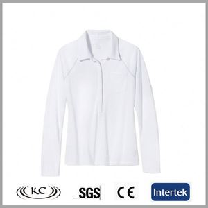 best selling high quality 100%cotton white long sleeve undershirts for women
