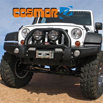 Black Textured Rock Crawler Front Bumper For Jeep Wrangler Buy Stubby Front Bumper With Led Light Bar For Jeep Wrangler Accessories Auto Front