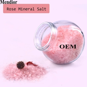 Mendior Natural mineral salt sea salt Rose nourishing whitening bath salts OEM