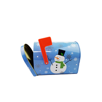 Children tin money saving tin box Christmas snowman style metal letter mail box gift packaging tin boxes