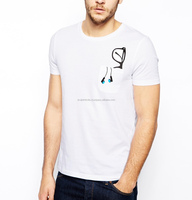 Mens specs and head phone printed pocket t shirt