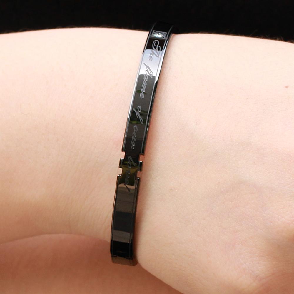 2018 Factory Custom Love Smart Bracelet Men Titanium Bracelet Good Watch Cicret Bracelet for Gift