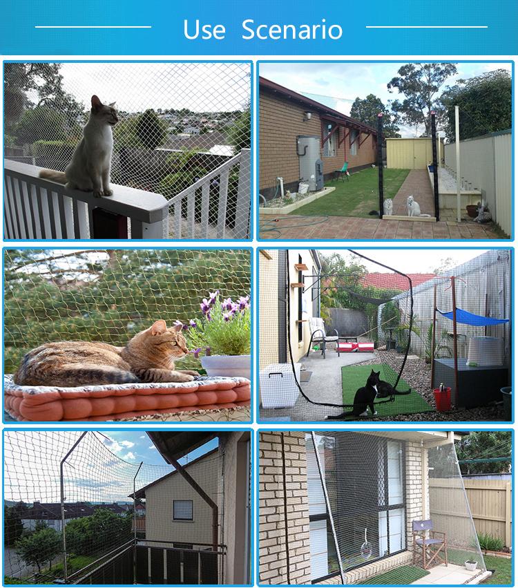 बिल्ली संरक्षण शुद्ध पारदर्शी बिल्ली सुरक्षा शुद्ध बालकनी सुरक्षा तंत्र के लिए बिल्ली