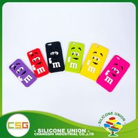 Wholesale 3D logo non-stick universal silicone rubber cell phone case