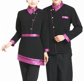 Oem wholesale chinese hotel restaurant uniform waiter for Restaurant uniform shirts wholesale