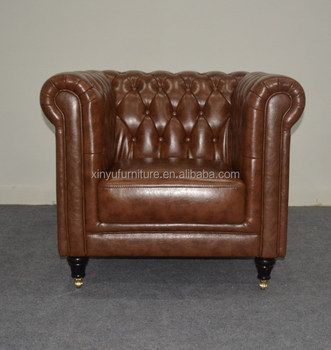 Hotel Single Sofa Chesterfield Chair With Wheels For Xyn4095