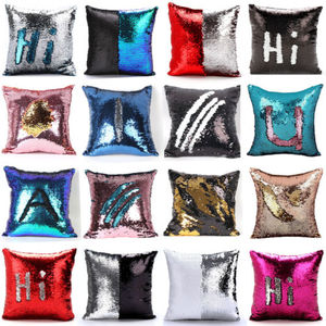 Reversible Sequin Mermaid Glitter Sofa Cushion Cover Pillow Case Double Color 16