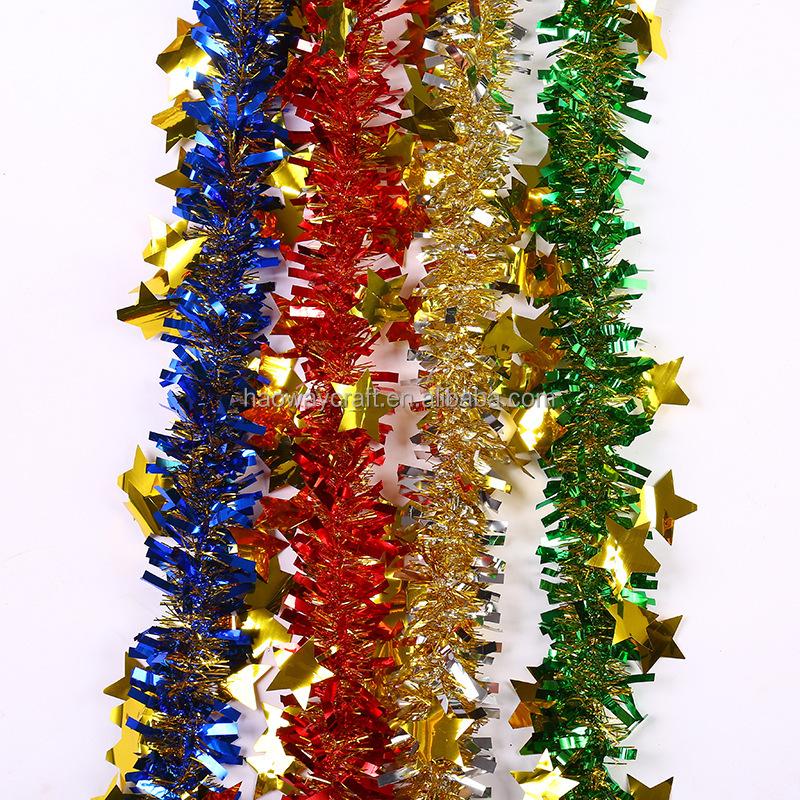 2m Colorful Flower Tinsel Garland Grind Christmas Decoration Buy Christmas Flower Tinsel Garland Pet Christmas Tinsel Colorful Garland Product On