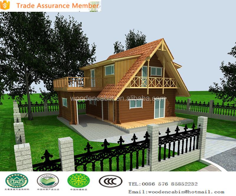 Doble Plantas Prefabricadas Casa De Madera Con Garaje - Buy Casas ...