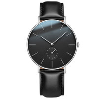 2018 New hot quartz japan movt stainless steel minimalist watch custom logo cheap watches with minute sub dial