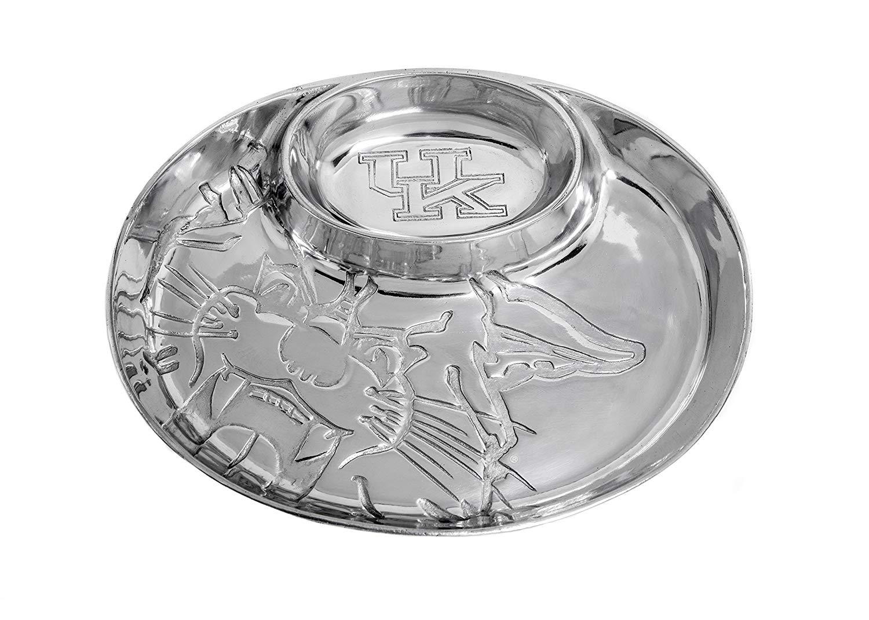 University of Kentucky Aluminum Chip & Dip Serving Bowl by Arthur Court Designs 14 inch Long