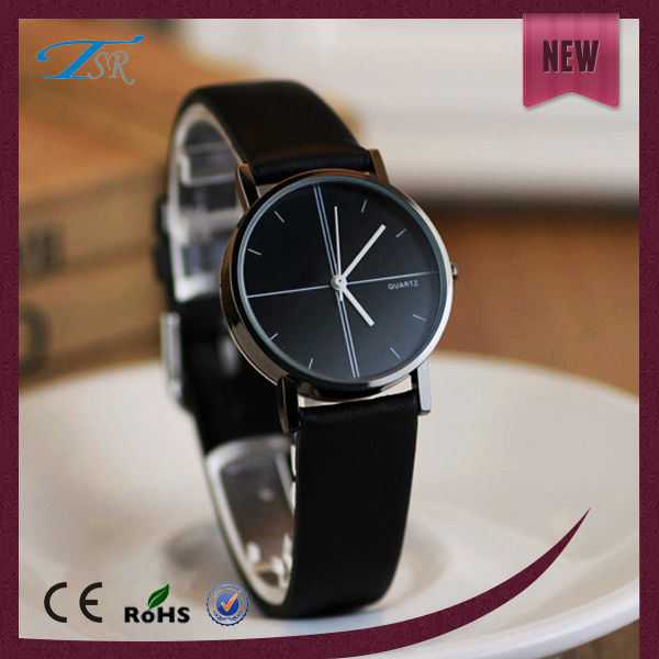Elegant oem custom color strap genuine leather wholesale gifts watches for lovers
