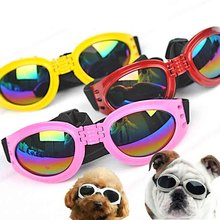 Hot foldable Pet Dog Sunglasses medium Large Dog glasses Big Pet eyewear waterproof Dog Protection Goggles UV Sunglasses