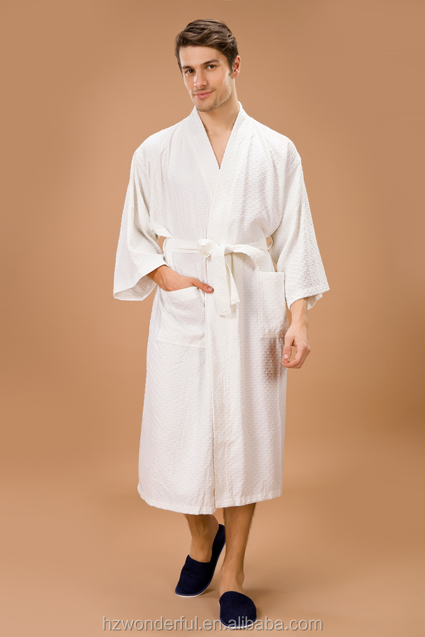fashion style hot sale white kimono collar triangle pattern bathrobe and sexy bedroom night wear