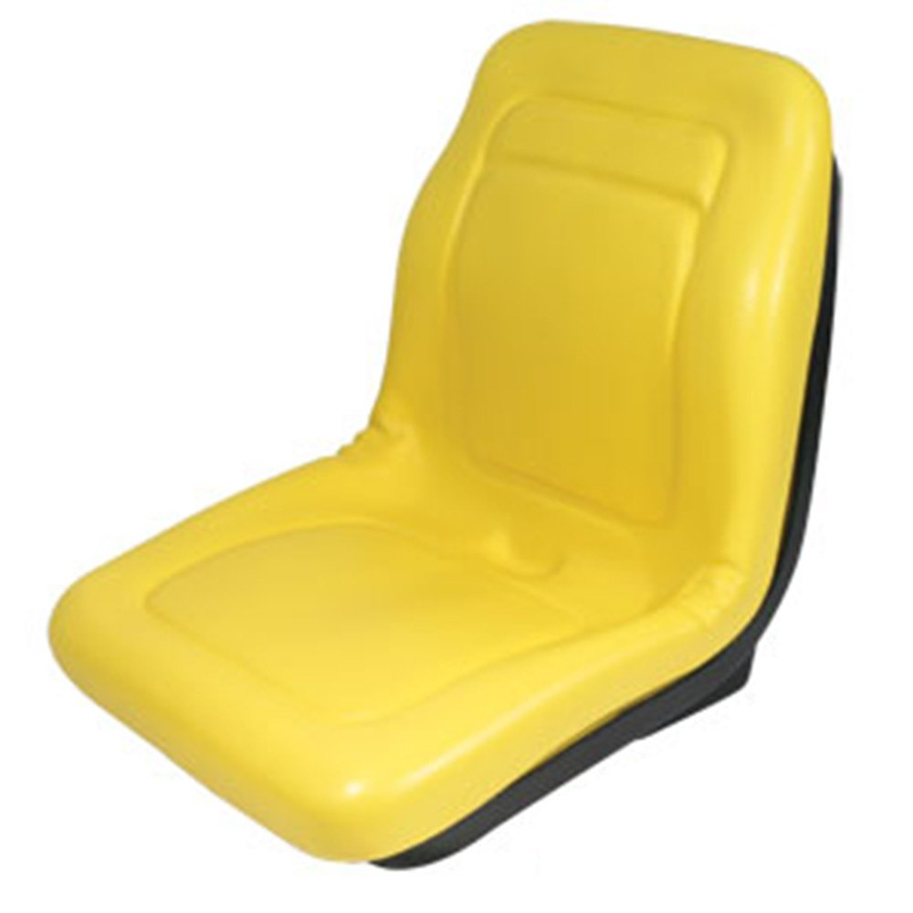 "Stens 420-179 High Back Seat, Used with John Deere Mowers and Tractors, waterproof vinyl, central drain, replaces John Deere: AM133476, VG11696, 18-5/8"" x 18-3/4"" x 22"", Yellow"