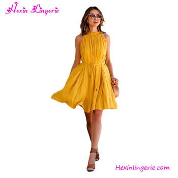 6edcf4acc New Arrival Yellow School Girl Wear Tight One Piece Skirt - Buy One ...